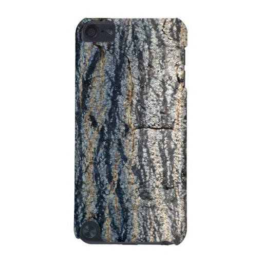 Textura vertical de la corteza de árbol funda para iPod touch 5G