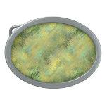 Textura vidriosa amarilla citrina hebillas de cinturón ovales