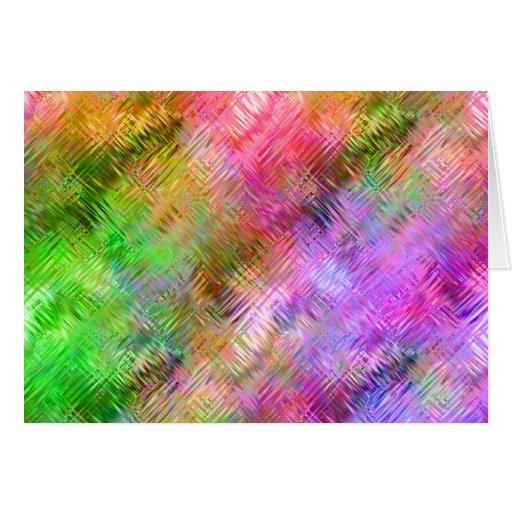 Textura vidriosa del ópalo colorida tarjeta de felicitación