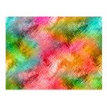 Textura vidriosa del Tourmaline colorido Postales