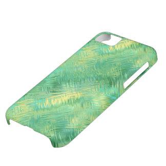 Textura vidriosa del verde esmeralda funda para iPhone 5C