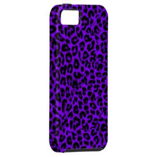 Textura violeta del estampado de animales del funda para iPhone SE/5/5s