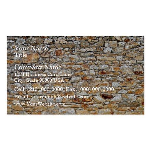Textura y modelo de la pared de piedra natural tarjetas de visita