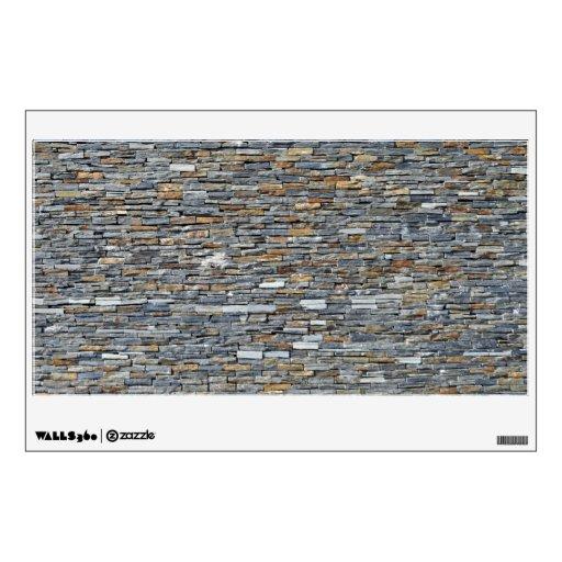 Textura y modelo de la pared de piedra oscura