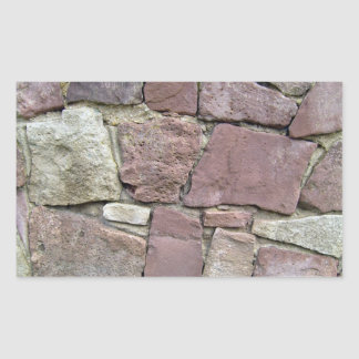 Textura y modelo del primer natural de la pared de rectangular pegatina