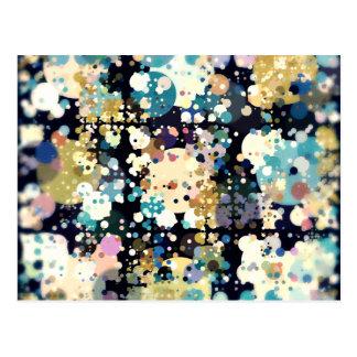 Textural Circles Abstract Postcard
