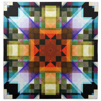 Textural Geometric Pattern Napkin
