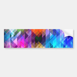 Textural Geometry of Color Bumper Sticker