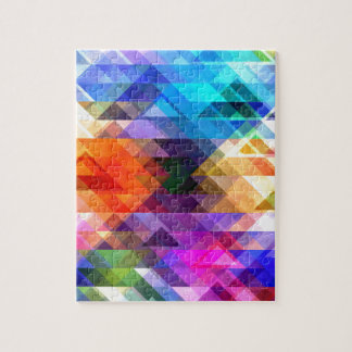 Textural Geometry of Color Jigsaw Puzzle