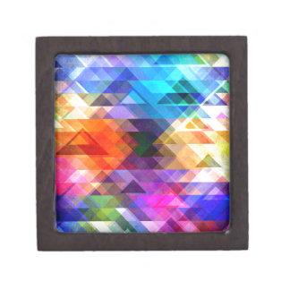 Textural Geometry of Color Premium Keepsake Boxes