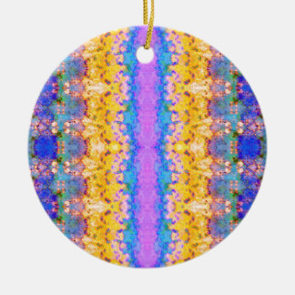 Textural Stripes Abstract Ceramic Ornament
