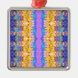 Textural Stripes Abstract Metal Ornament