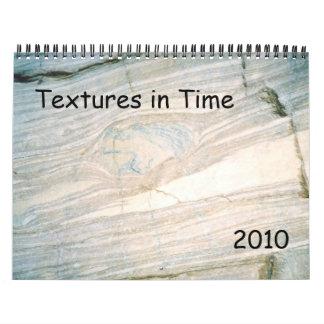 Texturas a tiempo 2010 calendarios de pared