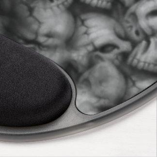 texturas de la cabeza del cráneo de la oscuridad alfombrilla con gel