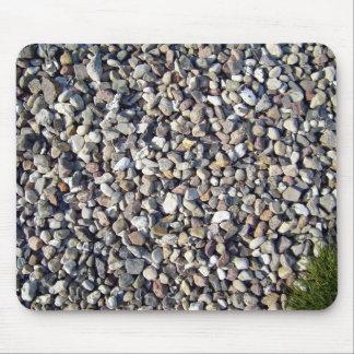 Texturas de la planta de piedra y verde tapete de ratón