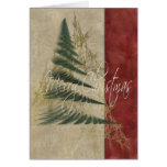 Texturas del árbol de navidad tarjeta de felicitación