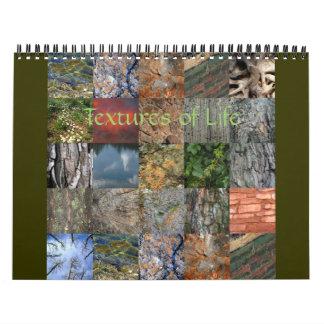 Texturas del calendario de la vida