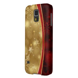 texturas elegantes del oro rojo brillante fundas de galaxy s5
