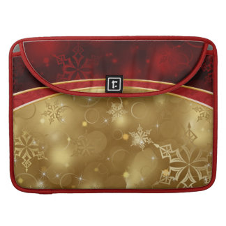 texturas elegantes del oro rojo brillante funda macbook pro