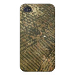 Texturas modernas de la tierra de Brown iPhone 4 Cobertura