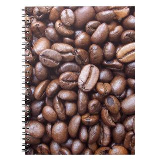 Texturas naturales - grano de café cuaderno