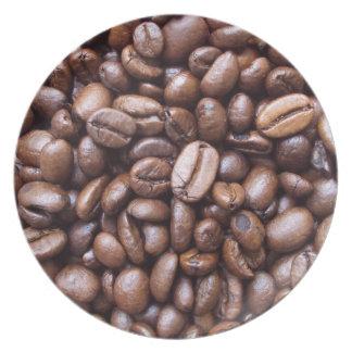 Texturas naturales - grano de café plato de comida