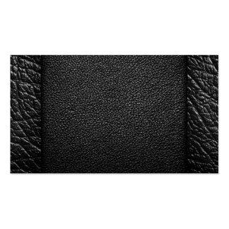 Texturas negras del cuero para el fondo tarjetas de visita