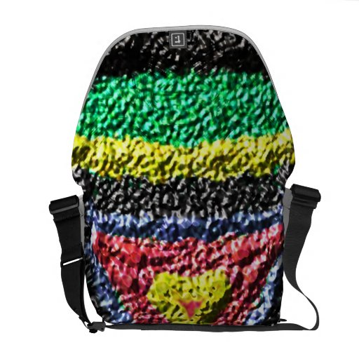 Texture abstract pattern courier bags