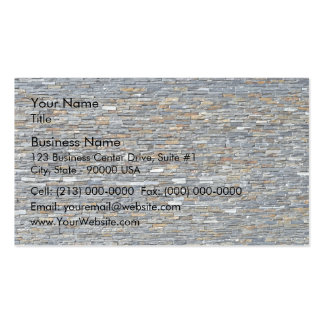 Texture and Pattern Of Dark Stone Wall Business Card