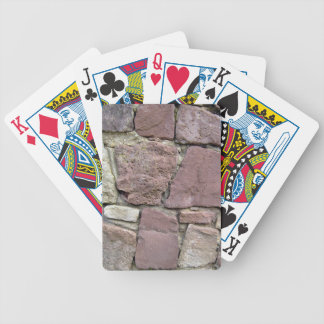 Texture and Pattern Of Natural Stone Wall Close-Up Bicycle Playing Cards
