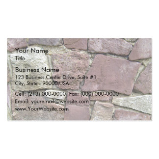 Texture and Pattern Of Natural Stone Wall Close-Up Business Cards