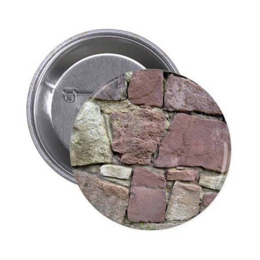 Texture and Pattern Of Natural Stone Wall Close-Up Button