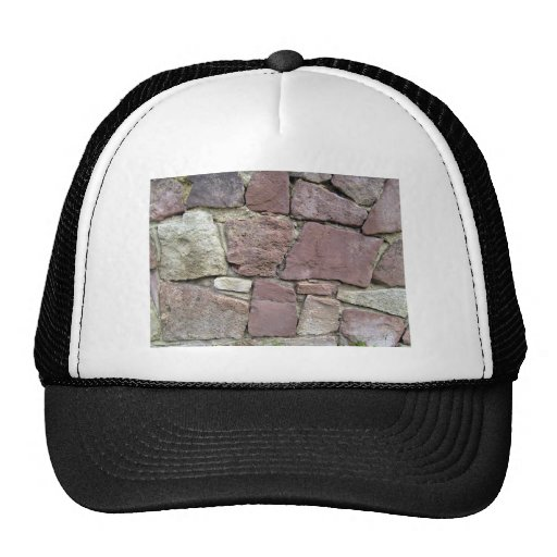 Texture and Pattern Of Natural Stone Wall Close-Up Mesh Hat