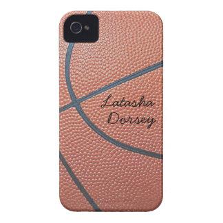 texture_Autograph-Style de Spirit_Basketball del iPhone 4 Case-Mate Cárcasa