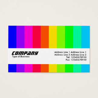 Texture Band - Color Bars 03 Business Card