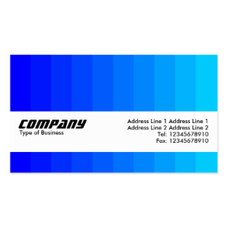 Texture Band - Color Transition - Blues Business Card Template
