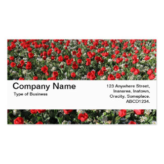 Texture Band V2 - Red Tulips and Primroses Business Card