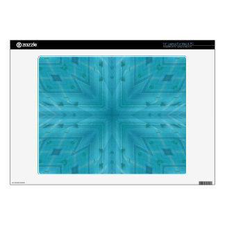 Texture Blue wood pattern Decals For Laptops