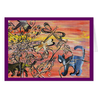 Texture Cats Greeting Card