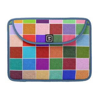 Texture Color Squares MacBook Pro Sleeve