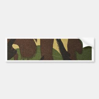 Texture Fabric Military Floral Dark Green Bumper Sticker