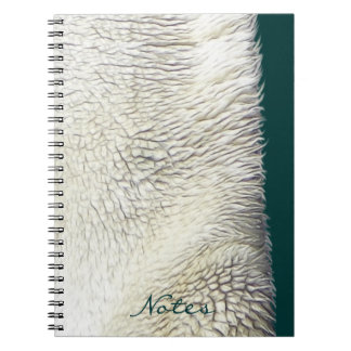 Texture Faux Fur Polar Bear Notebook