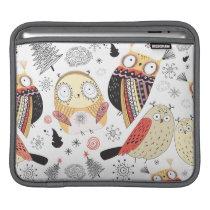 Texture funny owl iPad sleeve