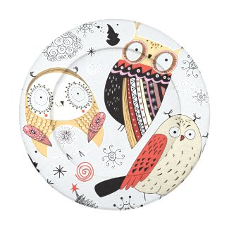 Texture funny owl pack of small button covers