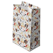 Texture funny owl small gift bag