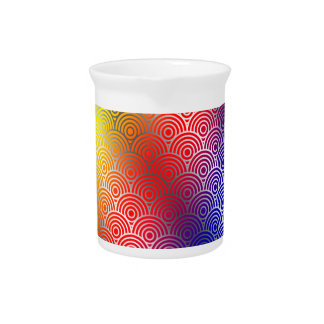 Texture Geometric Color Circle Swirls Colorful Drink Pitchers
