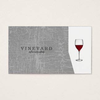 Texture Gray / Wine Glass Business Card