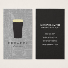 Texture Gray With Beer Glass Business Card at Zazzle