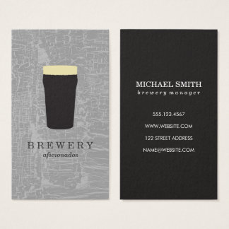 Texture Gray with Beer Glass Business Card