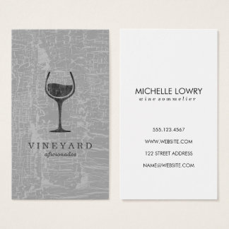 Texture Gray with Wine Glass Business Card